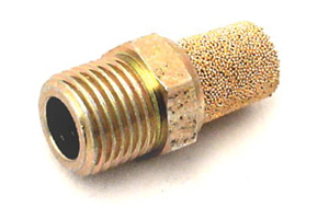 Sintered Bronze Muffler, 1/8 NPT for Air-Vac AVR Single Stage Vacuum Pumps