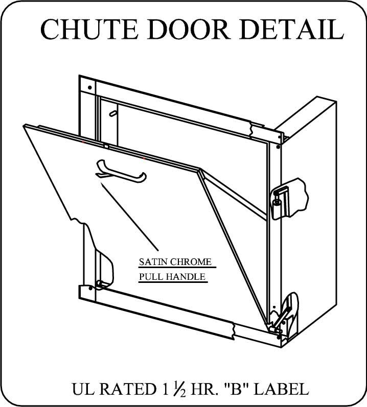Wilkinson Chute Door Detail  sc 1 st  James Wilbee Company Inc. & 15u201d X 18u201d Wilkinson Bottom Hinged Intake Door Assembly u2013 James ...